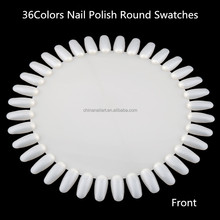 Professional acrylic nail polish display case nail display cabinet round rotating Nail Art pallet