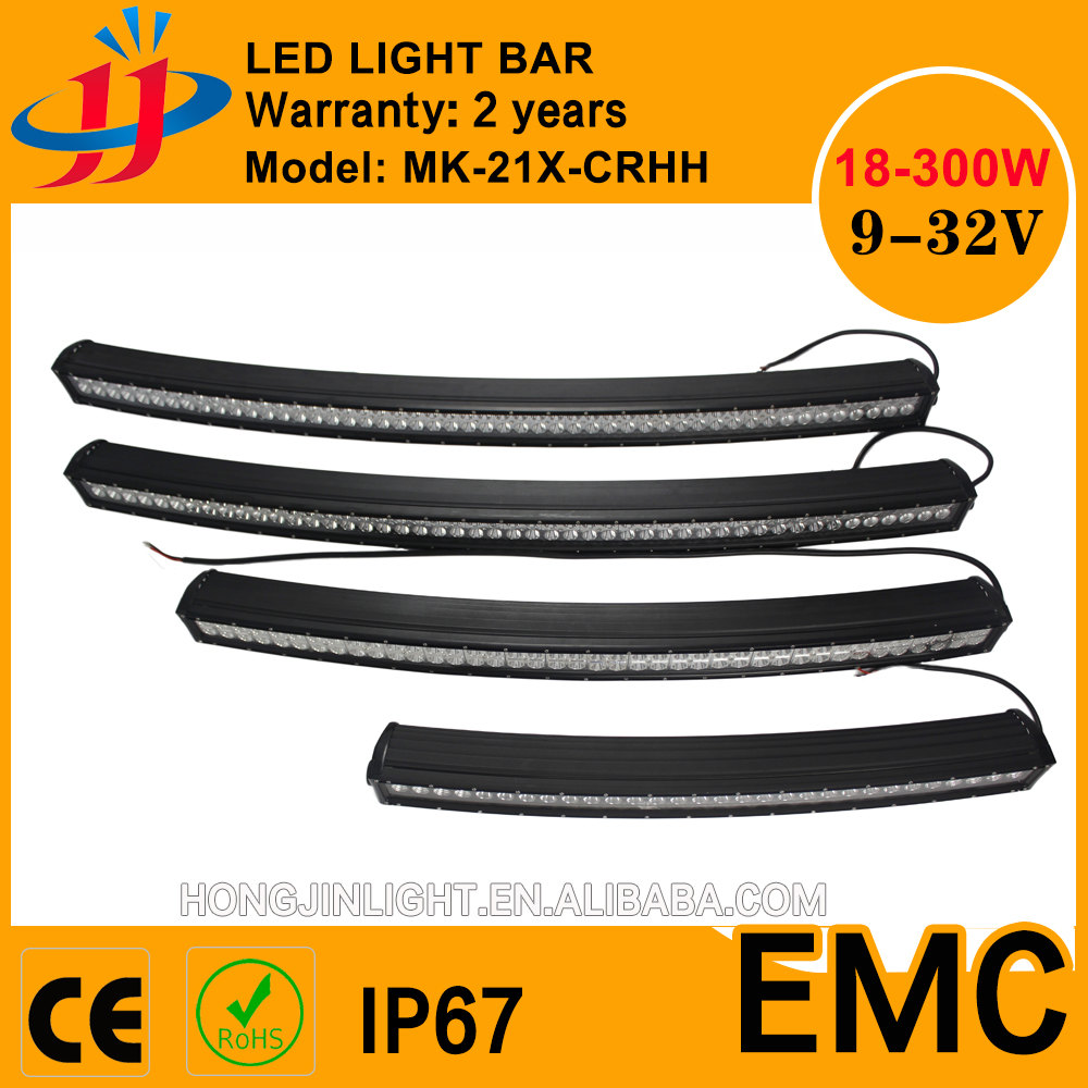 288w curved led light bar Warehouse in Europe Australia faster cheaper shipping all size led light bar 4D 5D 120w/126W/240W/300w