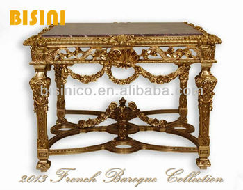 French Baroque Style Coffee Table, Entry Table
