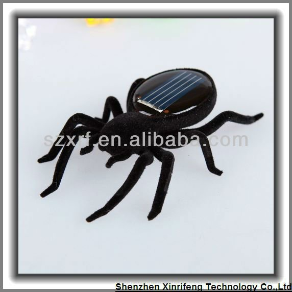 eco-friendly gadgets plastic small solar spider toys hobbies toysbase.com