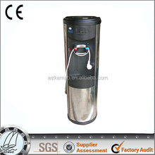 hot and cold Water dispenser with stainless steel wall panel,free standing cooler