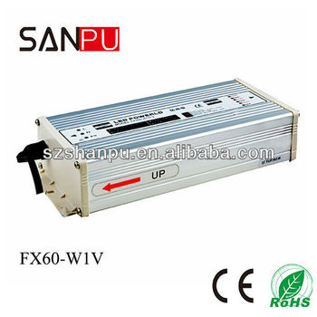 SANPU 2017 hot selling CE ROHS FX 60w 24v programmable power supply led driver with ce led transformer 110v