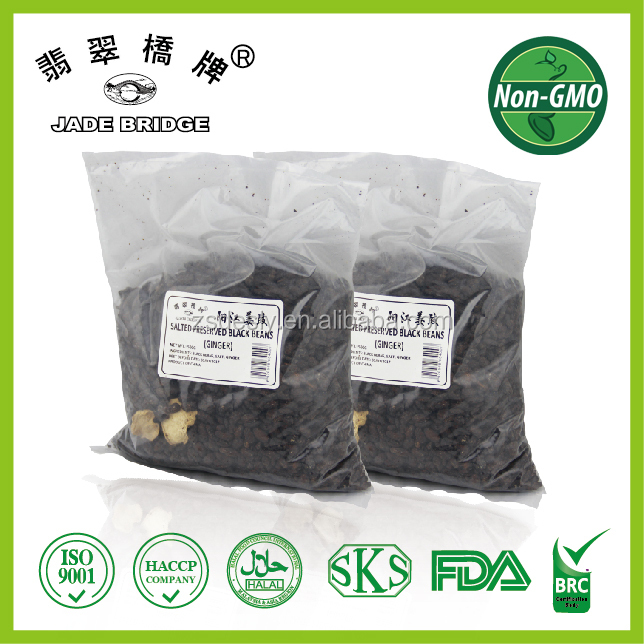 Traditional salted fermented black beans