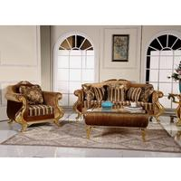 HM2096 European old silver tufted sectional sofa set luxury furnitures cattle hide fabric sectional sofas set for living room