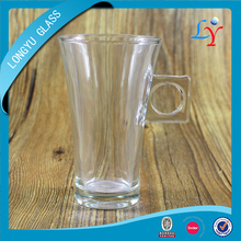 glassware glass coffee mug wholesale nescafe coffee mug with square handle