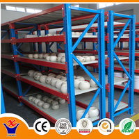 steel powder coated adjustable industrial shelving