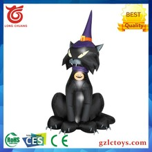 Large Inflatable Animated Black Cat toy Halloween Yard Decoration