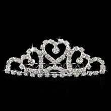 Mini Twinkle Rhinestone Diamante Bridal Princess <strong>Crown</strong> Hair Comb Hair Clip Tuck Tiara Ball Party Wedding