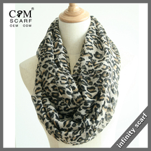 wholesale leopard print infinity scarf