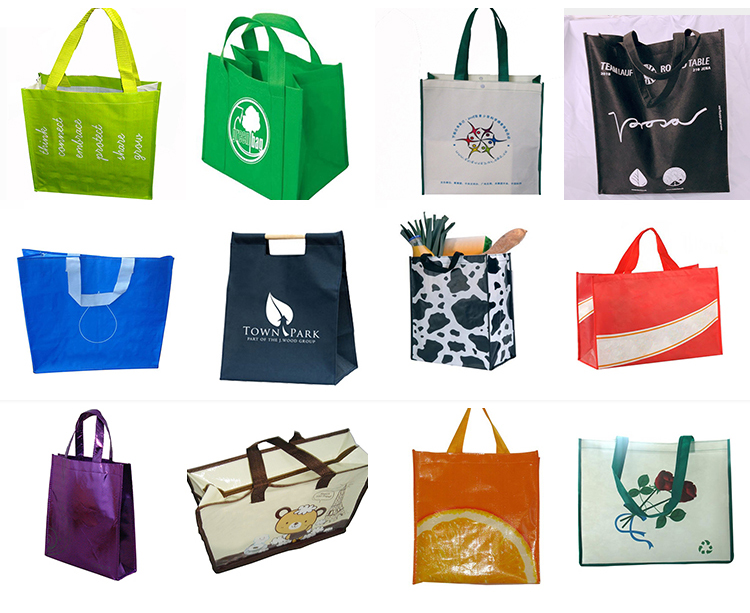 Custom printed waterproof pp woven laminated tote shopping bag