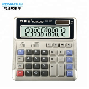 Electronics Calculator Plastic Big button Key Calculator 12 Digits