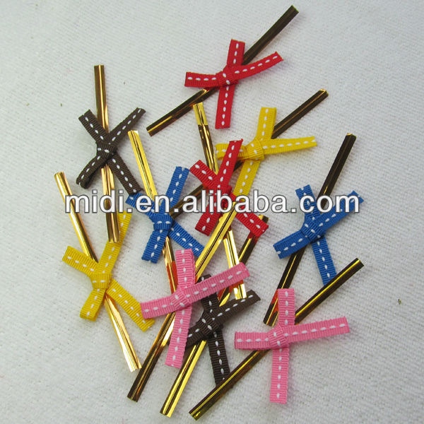Mini Ribbon Bow Central Stitch Line Craft Ribbon Bow