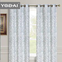 China 100% Polyester Chinese Style European Window Jacquard Curtains