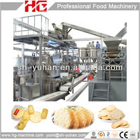 Automatic snow rice cracker senbei making machine
