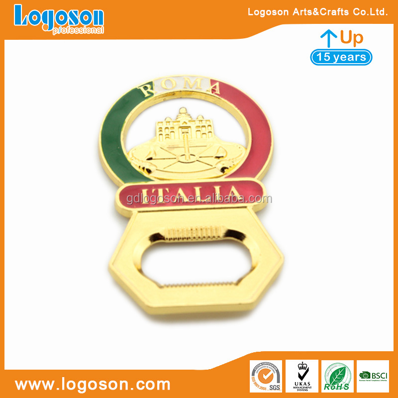 Tourist Souvenirs Unique Beer Bottle Opener Magnet for Fridge Roma Italy Metal Map Enamel Bottle Opener