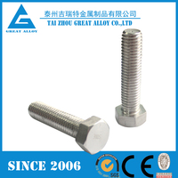 ss310 hex flange bolt and nut