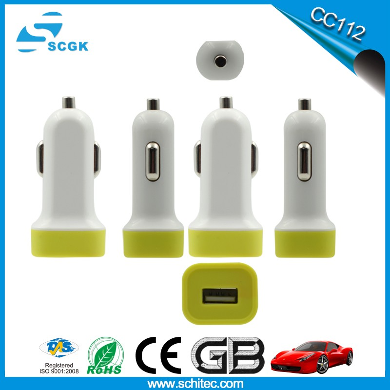 Smartphone Type C and QC 3.0 single USB Car Charger