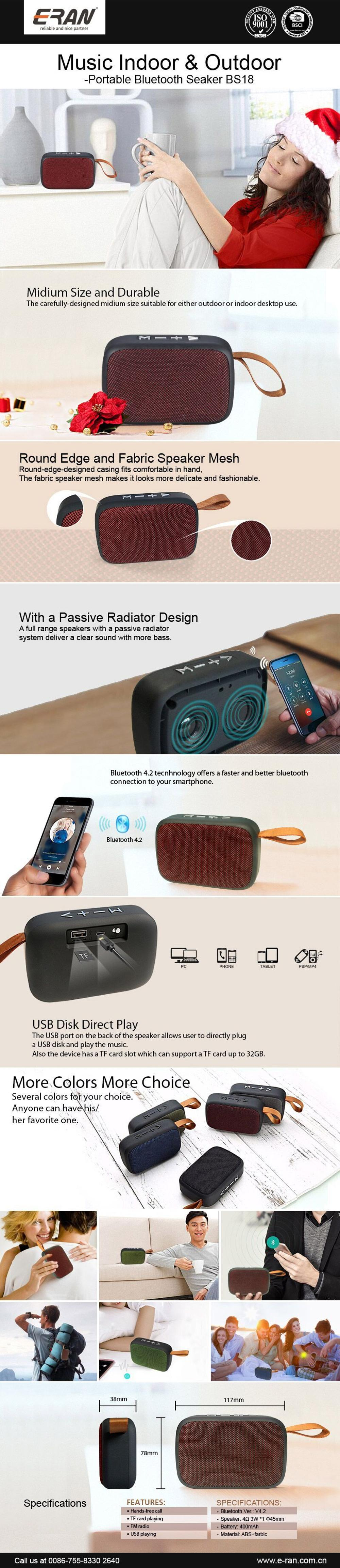 Unique Products 2017 Bluetooth Wireless Speaker Manufacturers Wireless Speaker For Memory Card