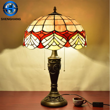 European style glass mosaic tiffany Table Lamps with china factory price