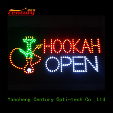 wholesale china factory price hookah open animated led sign