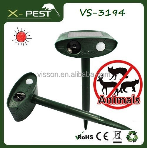 2015 Visson New X-pest yard gard product VS-3194 solar wild ultrasonic animal monkey repeller