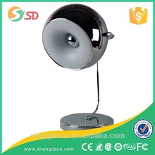 Fancy white decorative stainless steel beside table lamp for european market