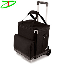 Alibaba China Supplier Wine Trolley Cooler Bag, Portable Wine Cooler Bag