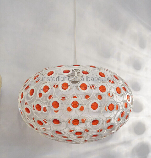 Crystal Ball Chandelier Light Large Metal Frame Modern Pendant Lamps / Lights