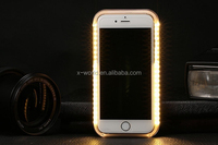 Newest design 42 LED light up phone case selfie light phone case for iphone 6s/6s plus