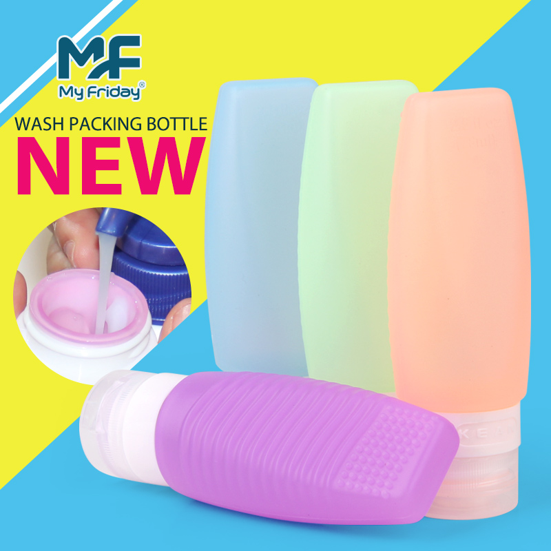 Wholesale custom bpa free silicone squeezable plastic bottle container 100 ml