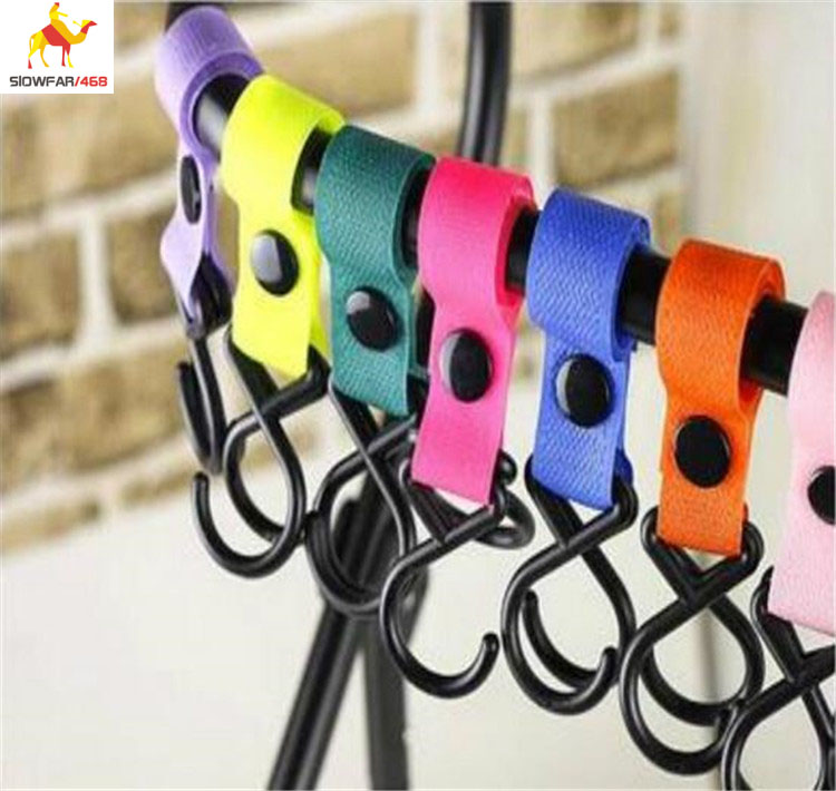 baby products baby stroller accessory stroller hook with different colors Hook & Loop Tapes