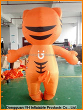 giant promotion inflatable walking mascot with people inside