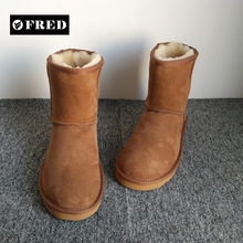 China manufacture small order available unique winter sheepskin boots 2017