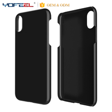 Hard Blank Plastic PC cell phone case for iphone X