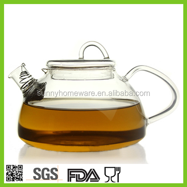 pyrex crystal glass teapot 1000ml / blooming tea pot / borosilicate tea sets