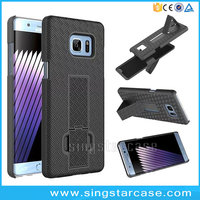 Shockproof Straw Mats Pattern PC Plastic Hard Case For Samsung Galaxy Note 7 Holster Belt Clip