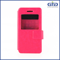 Factory supply PU+Silicon universal flip cover for cellphones with 7 sizes to choose