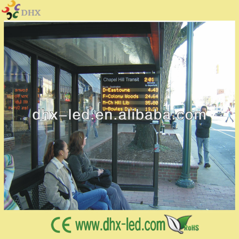 P7.62 led display for bus stops