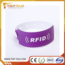 Colorful 125Khz Disposable Rfid Paper Wristband For One Time Use