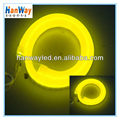 mini led neon tube 220v flexible led neon rope lights yellow
