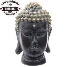 polyresin Thai Buddha head with gold effect