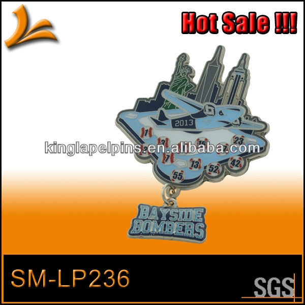 SM-LP236 special baseball trading pins dangler pin