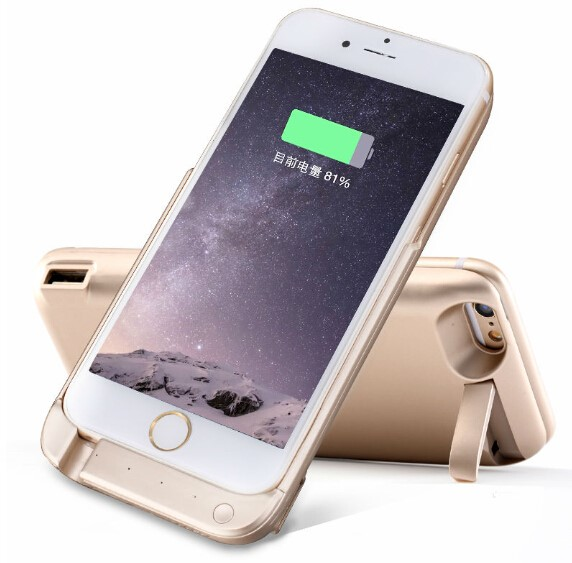 For Apple iPhone6 6s Power Bank Battery Case 10000mAh Rechargeable Portable Backup Power Bank USB Charger