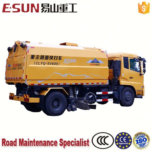 Motor pavement sweeper