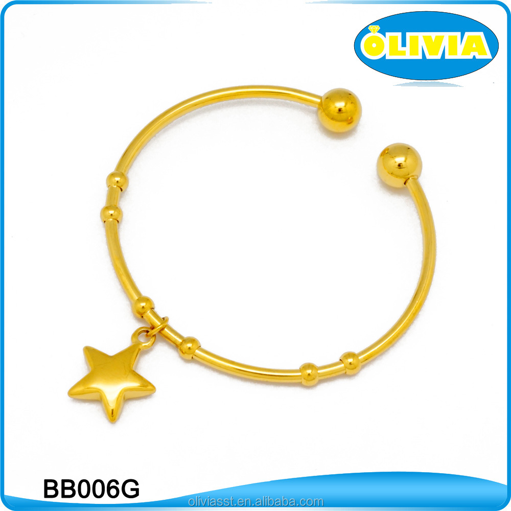 Olivia China Fashion Jewelry 2017 Bangle Gold Color Star Sign Bracelet