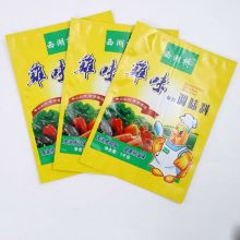 Custom wholesale yellow self-styled PE bag for chicken essence, seasoning packaging