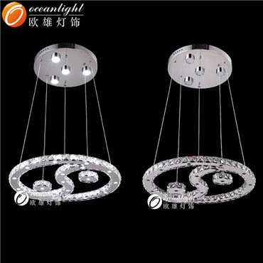 Hot sale LOFT style modern crystal indoor LED spiral pendant lamp for Decoration om718