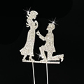 Wedding Proposal crystal couple cake topper for wedding party decoration
