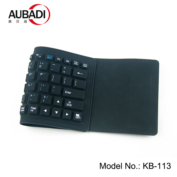 Foldable Waterproof Blue tooth Keyboard Silicone Rechargeable Keyboard