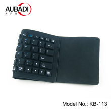 Foldable Waterproof Bluetooth Keyboard Silicone Rechargeable Keyboard